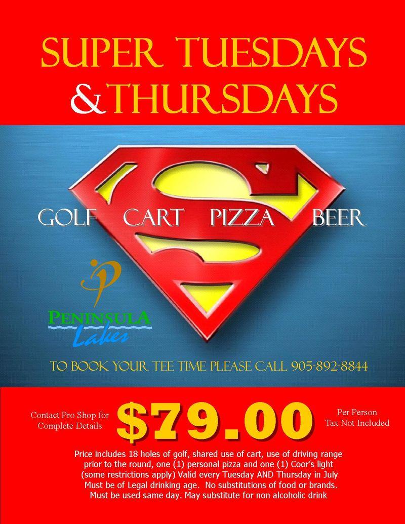 Super Tuesdays & Thursday July 2012